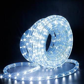 LED Lichterschlauch, Lichtschlauch Partyzelt Beleuchtung Licht Leiste 36  LEDs/M Schlauch Für Innen Und Außen IP65 10M Kaltweiß: Amazon.de:  Beleuchtung