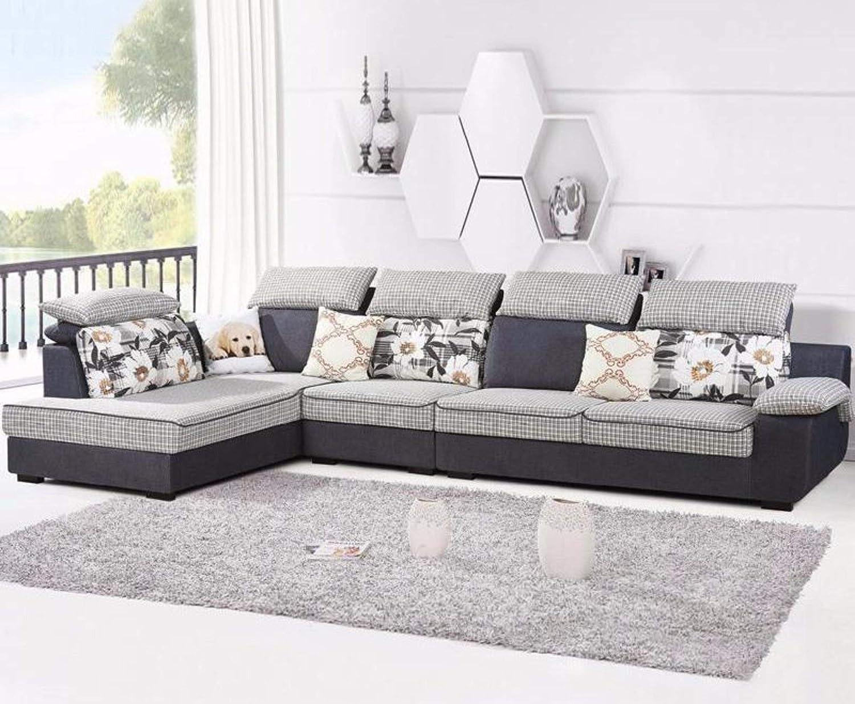 Amazon.com: My Aashis L Shaped Modern Living Room Furniture Velvet