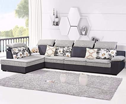 Prime My Aashis L Shaped Modern Living Room Furniture Velvet Home Interior And Landscaping Oversignezvosmurscom