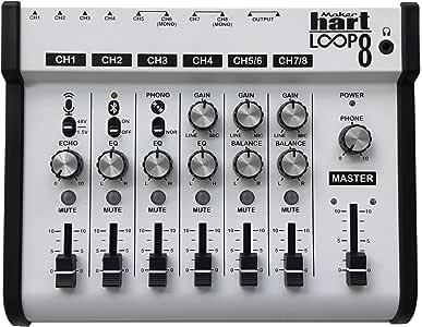 Maker hart Loop Mixer 8 3.5mm/6.3mm JACK/Bluetooth/Phono EQ Pre-amplify/microphone Compatibility/audio mixer