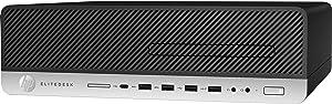 Flagship HP EliteDesk 800 G3 SFF Premium Business Desktop PC - Intel Quad-Core i7-7700, 256GB SSD + 2TB HDD, 16GB DDR4, Type C, DVD+RW, DisplayPort, Windows 10 Professional