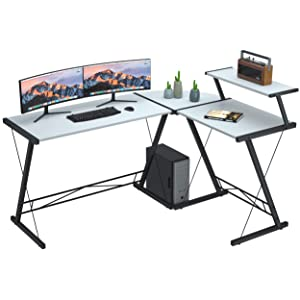 Coleshome Store Extra Large L Shaped Gaming Desk