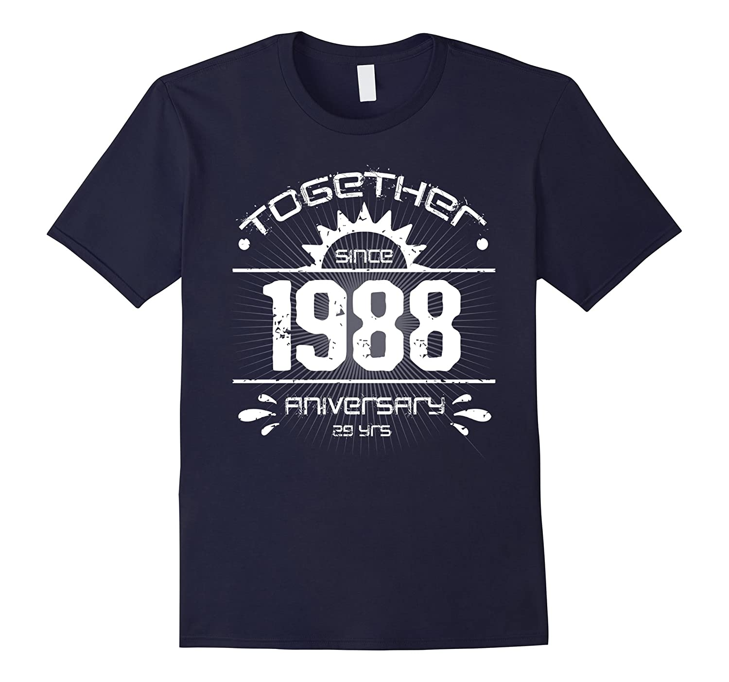 29th Anniversary T Shirt Vintage 1988 Couple Anniversary-ANZ