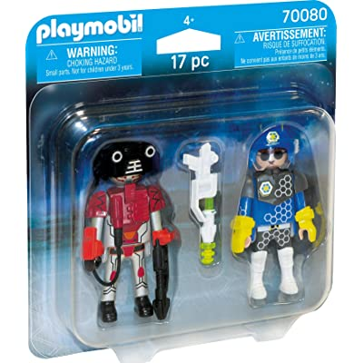 Playmobil Space Policeman und Thief Duopack 70080 Actionfigures: Toys & Games