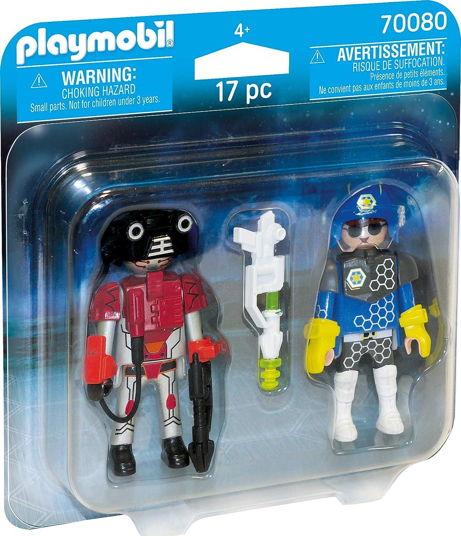 PLAYMOBIL- Duo Pack Duopack Policia Espacial, Color carbón (70080 ...