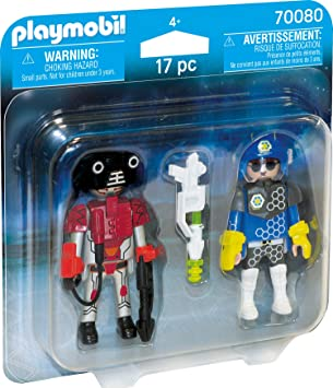 PLAYMOBIL- Duo Pack Duopack Policia Espacial, Color carbón (70080 ...