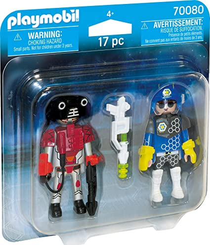 Amazon.com: PLAYMOBIL® Space Policeman und Thief Duopack ...