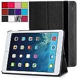 iPad Air 2 Case - Poetic iPad Air 2 Case [SlimBook Series] - [SlimFit] [Professional] PU Leather Slim Folio Case for Apple iPad Air 2 Black (3 Year Manufacturer Warranty From Poetic)