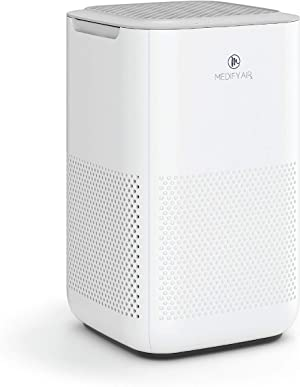 Medify MA-15 Air Purifier with H13 HEPA filter - a higher grade of HEPA | '3-in-1' Filters | 99.9% removal in a Modern Design - White 1Pack