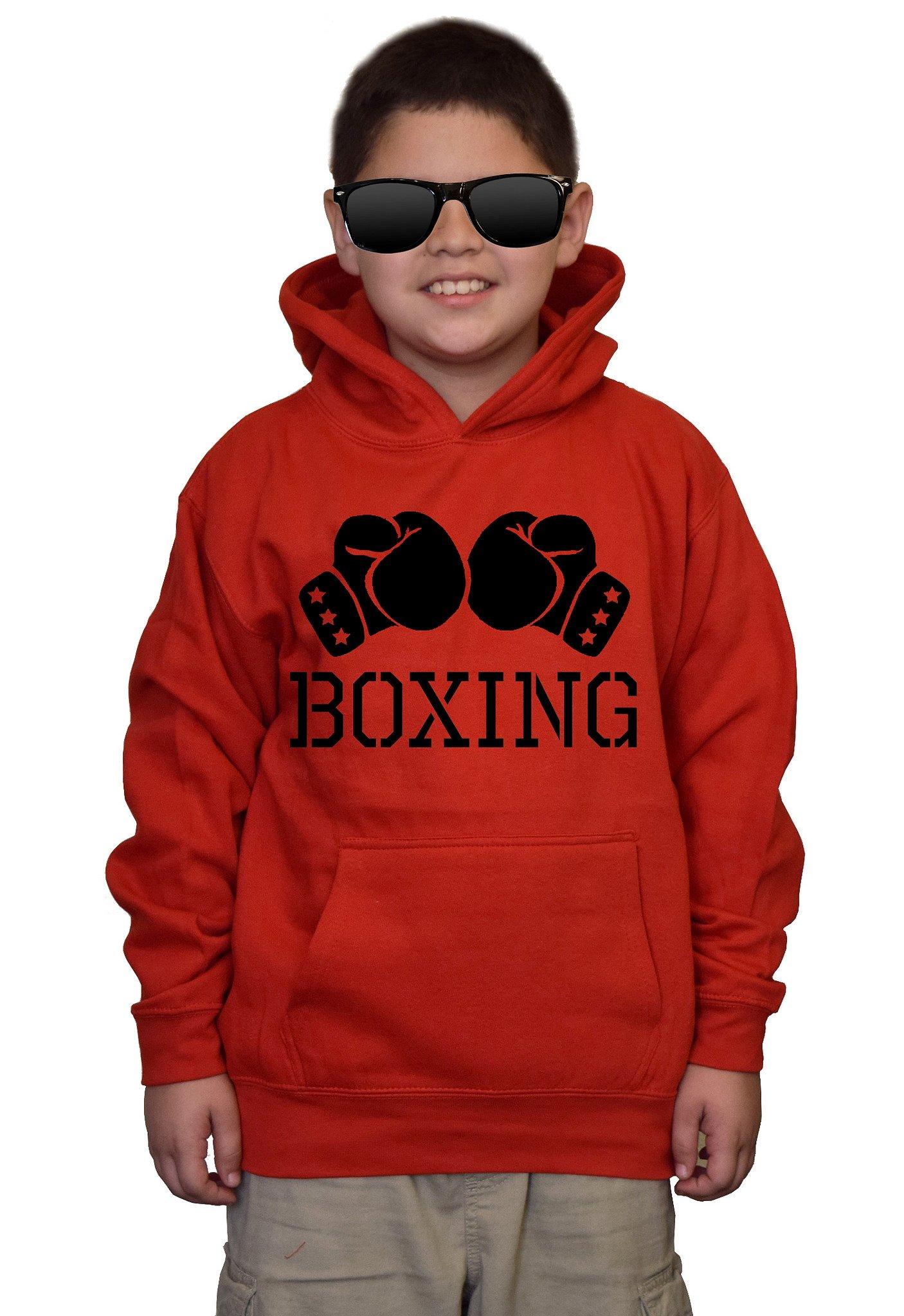 Youth Boxing Glove V434 Red kids Sweatshirt Hoodie XLarge