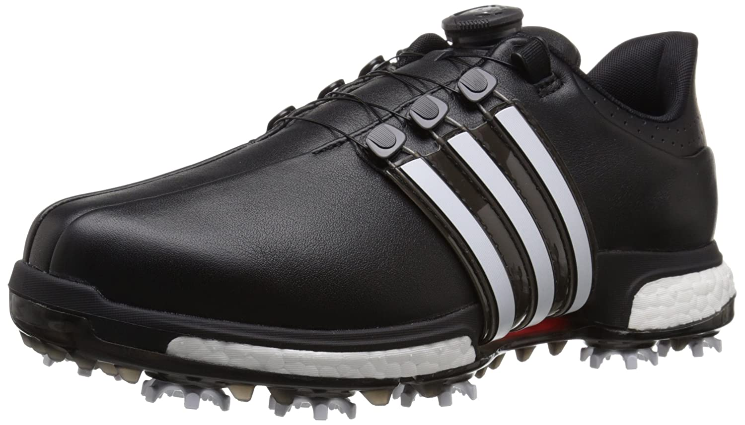 adidas Golf Men's Tour360 Boa Boost Spiked Shoe B013US90EK 14 D(M) US|Core Black/Ftwr White/Power Red