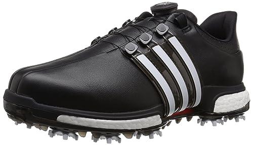 pretty nice e80b4 0fc6c Adidas Men s Tour360 Boa Boost Golf Cleated, Core Black FTWR White Power Red