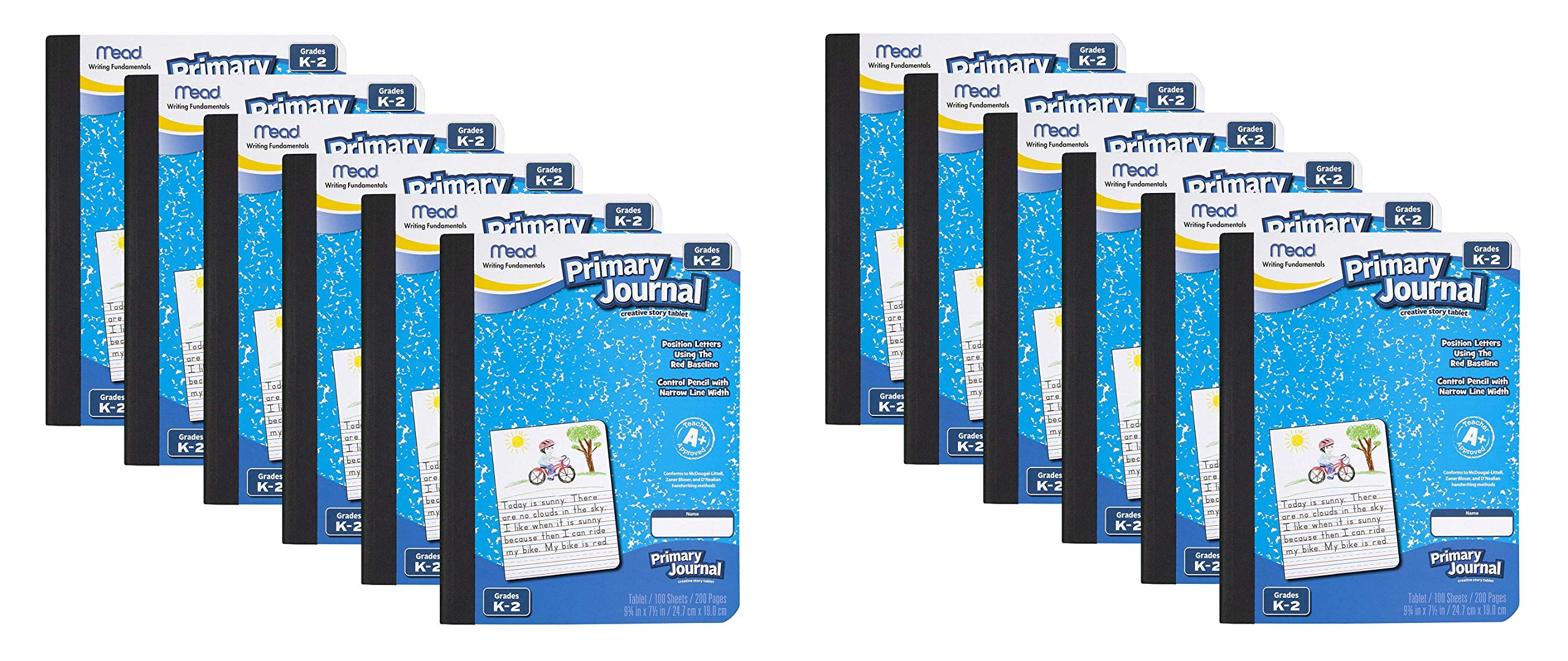 Mead Primary Journal Creative Story Tablet, Grades K-2, 12 Count (12) by Mead
