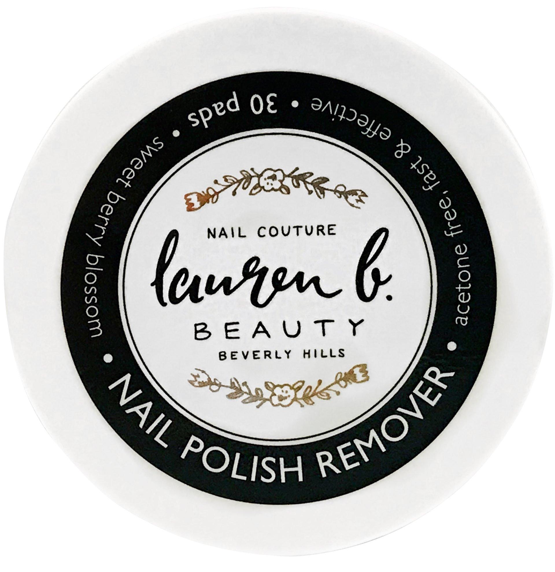 Lauren B. Beauty Nail Polish Remover Pads (30 Pads) by Lauren B. Beauty