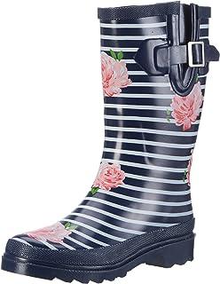 1c96e29a6f3b3 Mesdames Wellies Femmes neige pluie Festival de Wellington Bottes ...