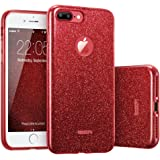 ESR iPhone 7 Plus Cover con Brillantini/Glitters, Custodia Brillante Lucciante Luminosa [Elastica e Morbida] per Apple iPhone 7 Plus (Rossa)