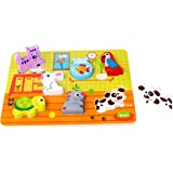 Tooky Toy Puzzle Infantil de Madera, Diseño Mascotas, a Partir de 12 Meses