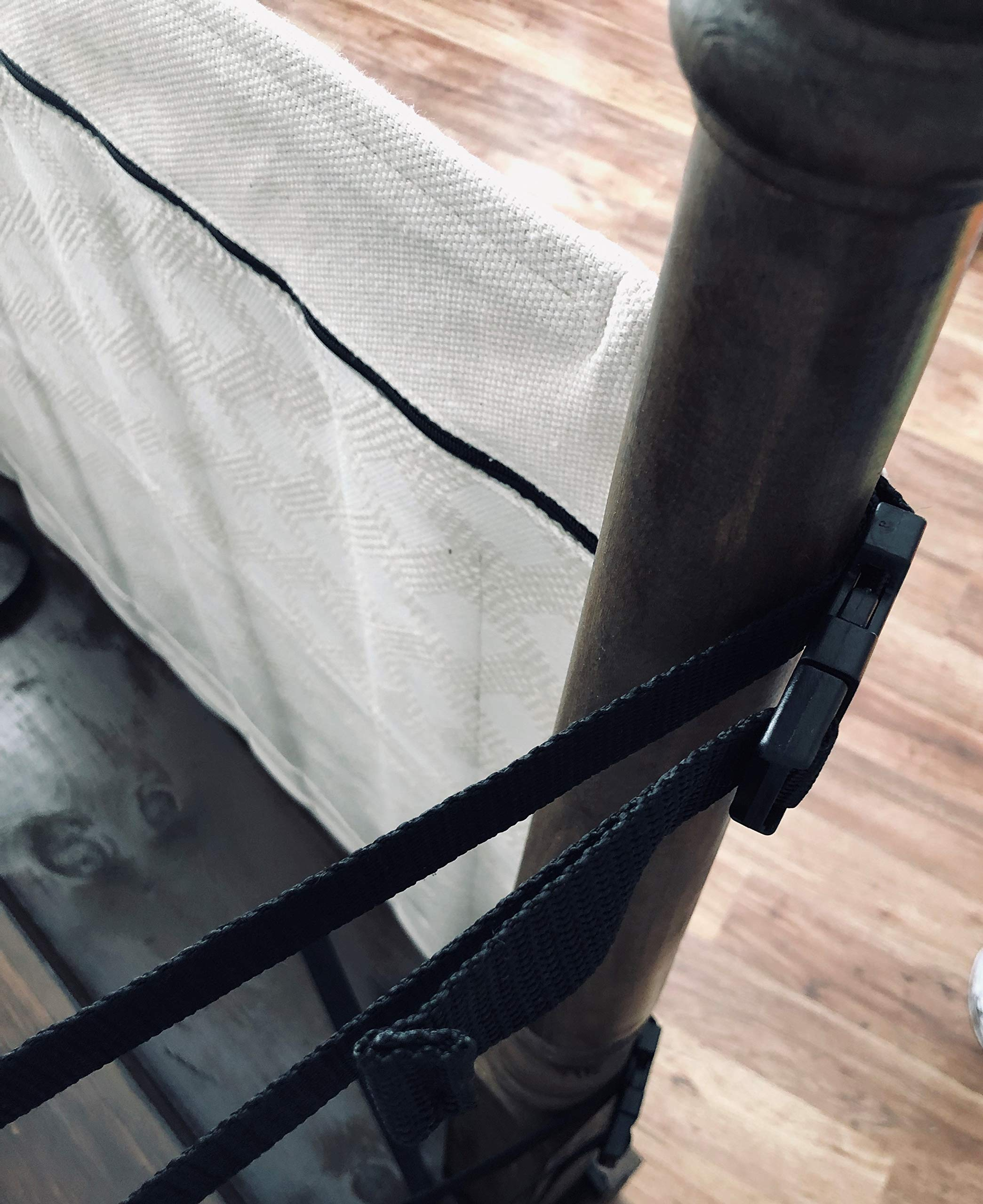 The Stair Barrier Baby and Pet Gate: No-Drill Portable Banister to Banister Baby Gates & Travel Bag - Safety Gates for Kids or Dogs - Fabric Baby Gate for Stairs with Banisters, New 2019 by THE STAIR BARRIER KEEPING CHILDREN AND PETS OFF THE STAIRS (Image #8)