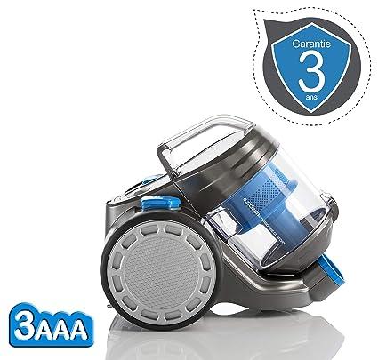 E. ziclean Turbo One Confort, Aspirador Trineo sin Bolsa, plástico, Gris