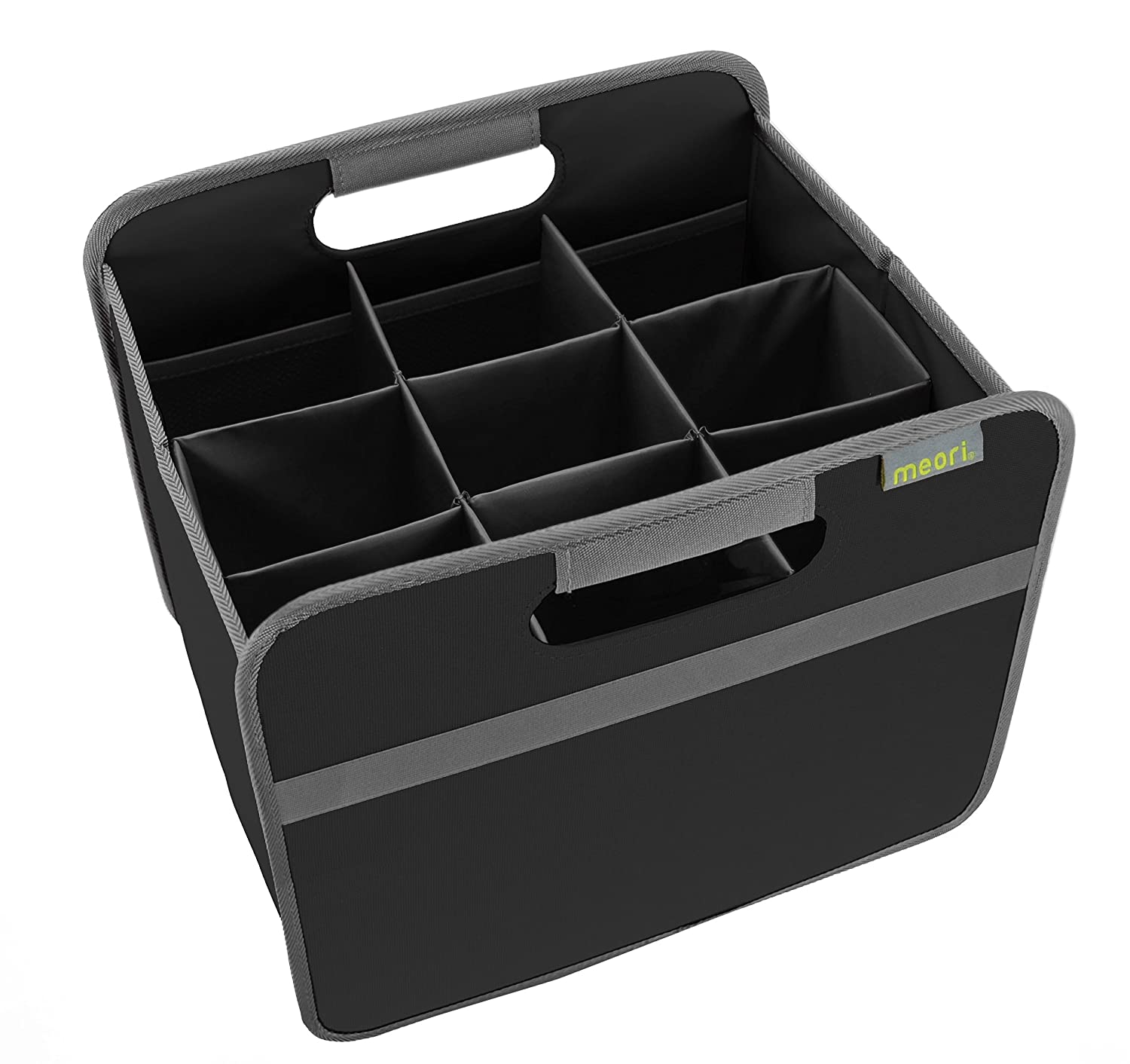 meori 9 Bottle Wine Carrier - Includes Small Foldable Storage Box (10 1/4