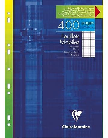 inserto di ricarica bianco a 90g//m2 Blocco per appunti a5 Formato vuoto 200 pagine