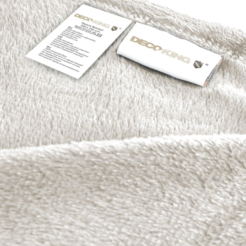 DecoKing Couverture Polaire Plaid en Microfibre Extra Douce au Toucher Gris Argent Acier 70x150 cm Mic