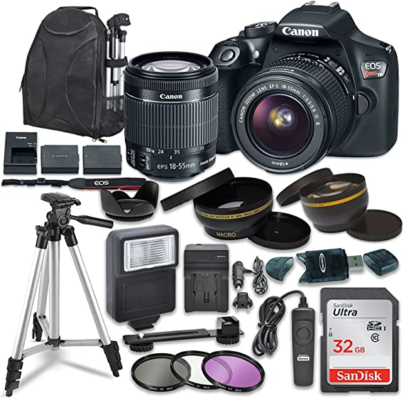 Canon EOS Rebel T6 Digital SLR Camera with Canon EF-S 18-55mm Image Stabilization II Lens