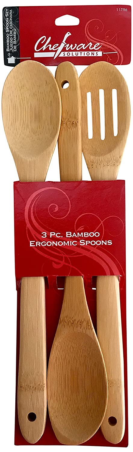 Chef Solutions 11796 Wooden Bamboo Spoon Set Wood