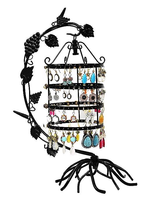 Amazon.com: Collar y arete, diseño de jaula Titular ...