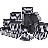 DIMJ 12 PCS Drawer Organizer Dresser Closet Foldable Wardrobe Storage Organizers Drawer Dividers Storage Cubes for Clothes, B