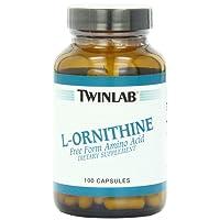 Twinlab L-Ornithine 500mg, 100 Capsules
