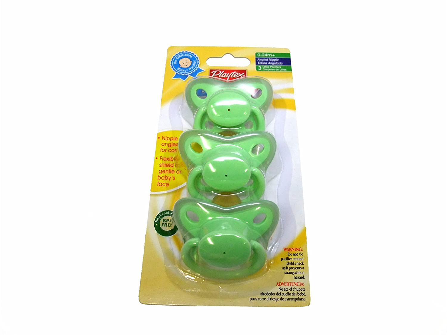 Playtex Binky Pacifier 3 Per Pack (Green)