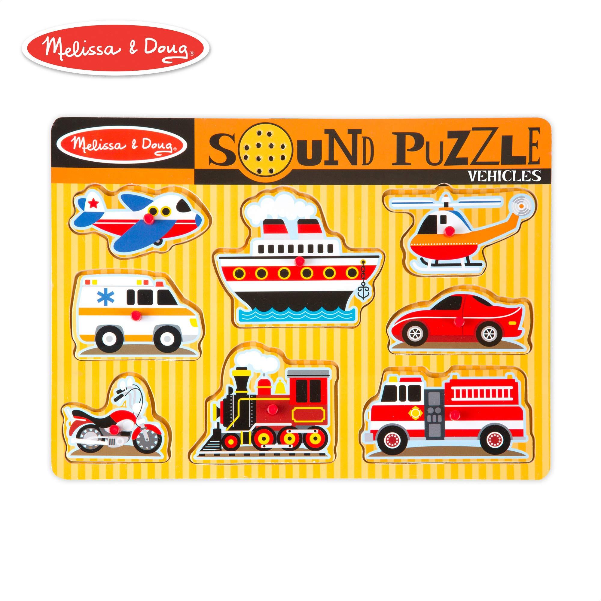 Melissa & Doug Vehicles Sound Puzzle (8 Pieces) by Melissa & Doug