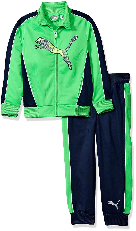 PUMA Boys Little Boys Boys' Two Piece Track Set Field Green 5 71175351FAZ-P354