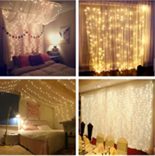 Curtain Lights   Adecorty 9.8ft9.8ft 306LEDs Window Icicle Lights With 8  Lighting Modes