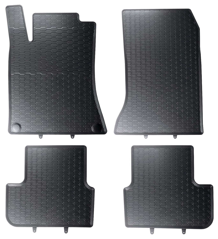 Auto-Gummimatten in schwarz und Wabendesign AME Geruch-vermindert und passgenau mit verbauten Befestigungen 852//4C
