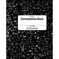 School Smart Hardcover Composition Book, 9-3/4 x 7-1/2 Inches, College Ruled, 200 Pages