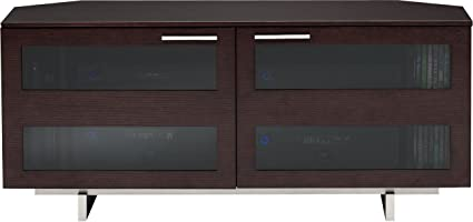 BDI Avion 8925 Low Profile Corner Entertainment Cabinet, Espresso Stained  Oak