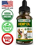 Hemp Oil for Dogs and Cats - 1000MG - Anxiety...