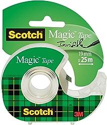 3M Scotch Magic Tape Dispensered Rolls, 19 mm x 25 m - Transparent