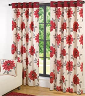 Annie Lined Eyelet Curtains 90