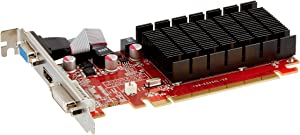 VisionTek Radeon 5450 2GB DDR3 (DVI-I, HDMI, VGA) Graphics Card - 900861,Black/Red