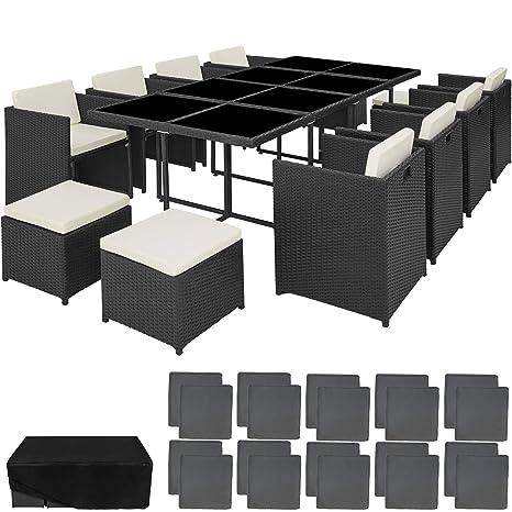 TecTake 800674 Conjunto Muebles de Jardín en Aluminio y ...