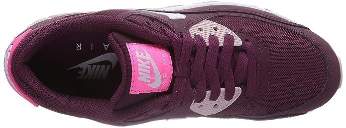 Nike Air Max 90 Essential, Damen Sneakers, Rot (Villain Red