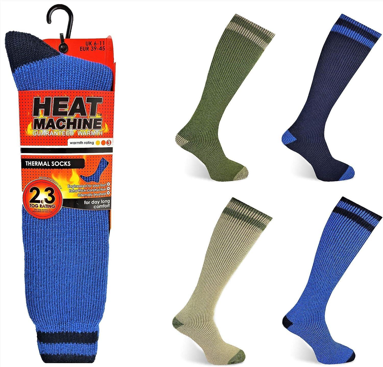 4 Mens Extra Thick Heat Machine® 2.3 Tog Rating Winter Thermal Socks UK 6-11