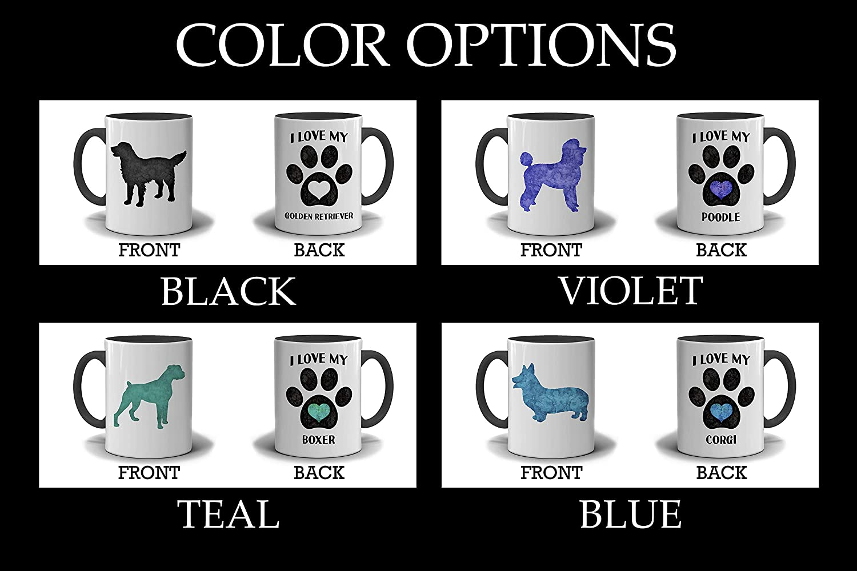 Black and White Mug Boxer Custom Dog Mug I Love My Boxer