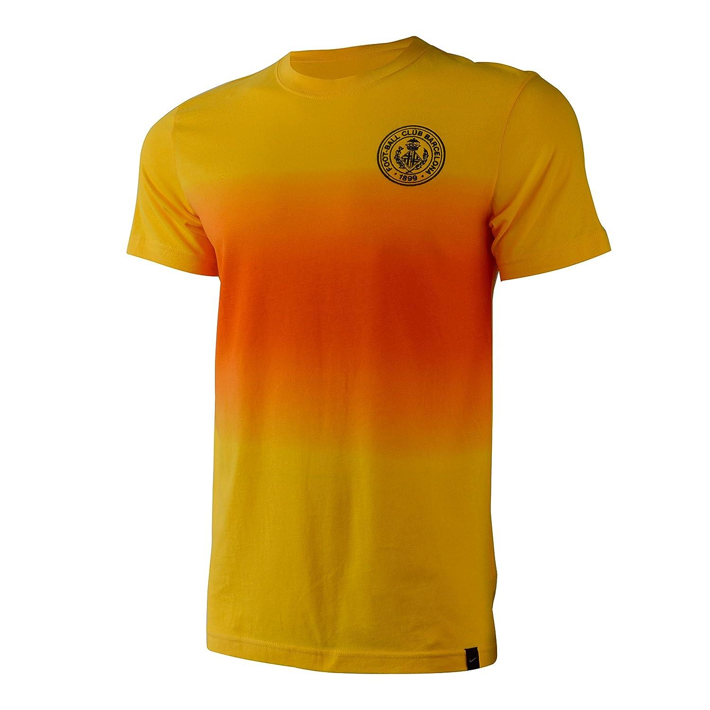 Nike Hombres de Barcelona Fútbol/Fitness Camiseta L Naranja-Amarilla: Amazon.es: Ropa y accesorios