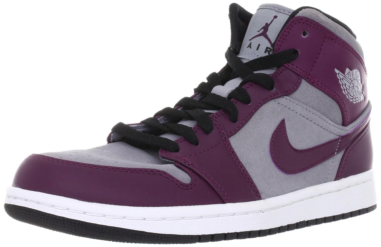 NIKE Air Jordan 1 Phat Mid Mens Basketball Shoes 364770-605 Bordeaux 8.5 M  US  Amazon.co.uk  Shoes   Bags 24e3f2699