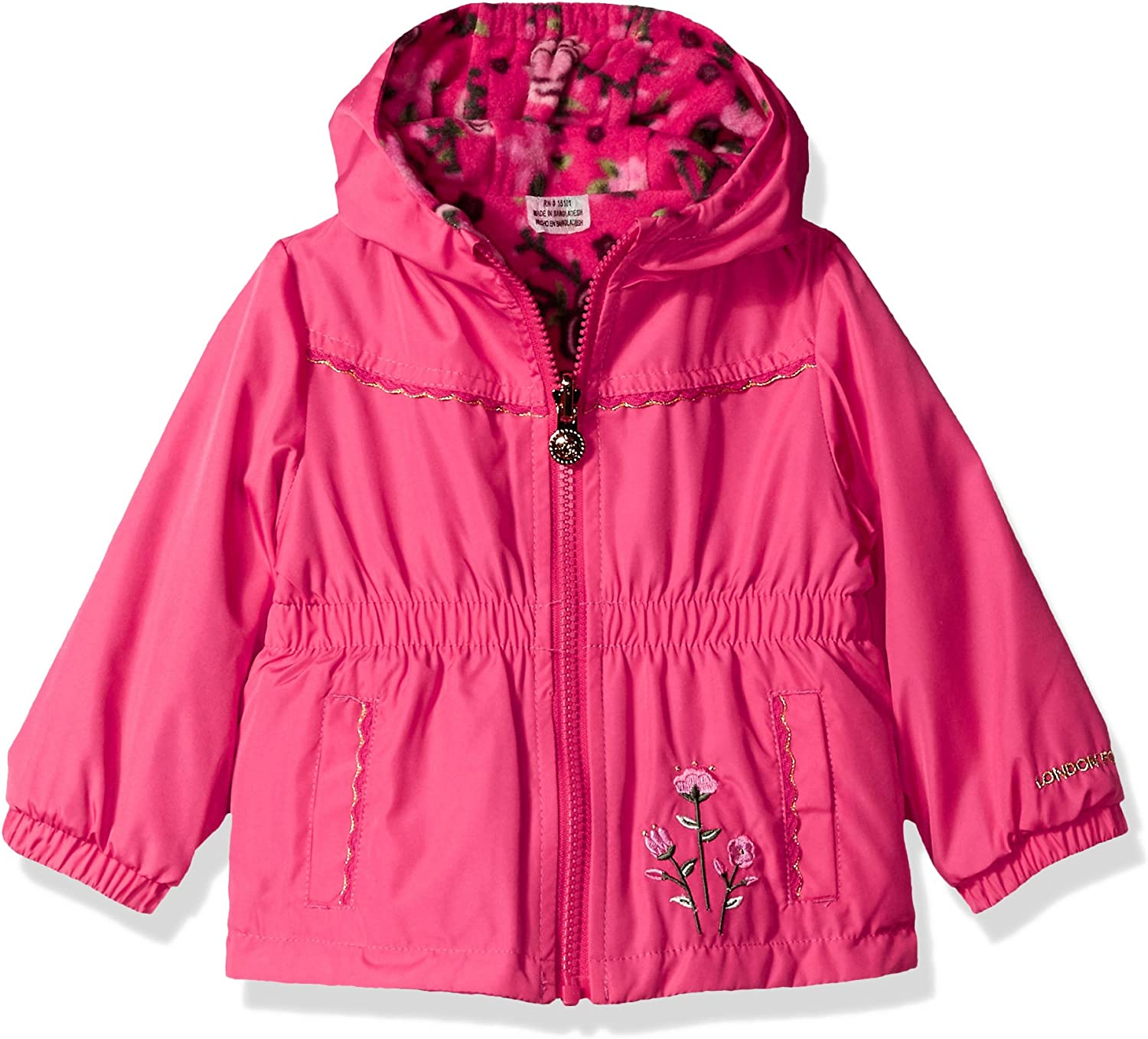 LONDON FOG Baby Girls Reversible Soft /& Sensible Jacket Coat