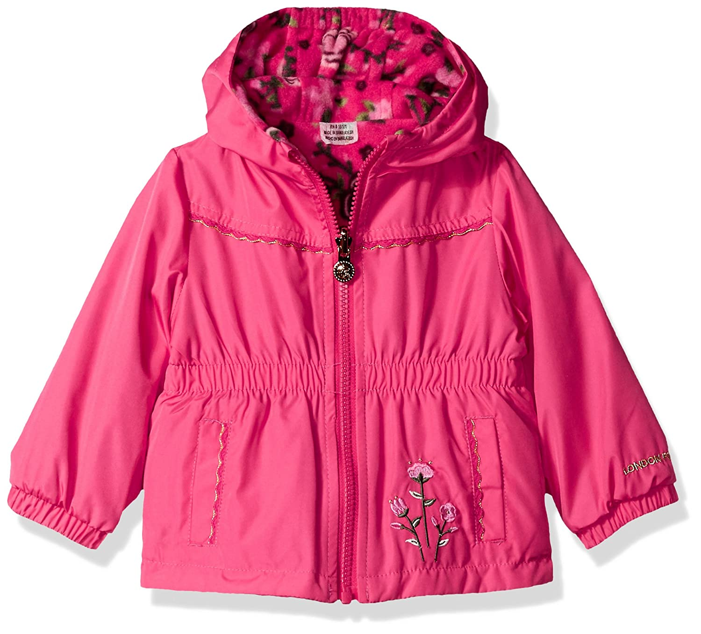 LONDON FOG Baby Girls Reversible Soft /& Sensible Jacket Coat